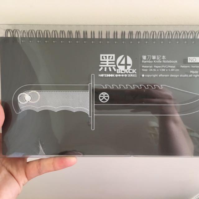 誠品全新獵刀筆記本