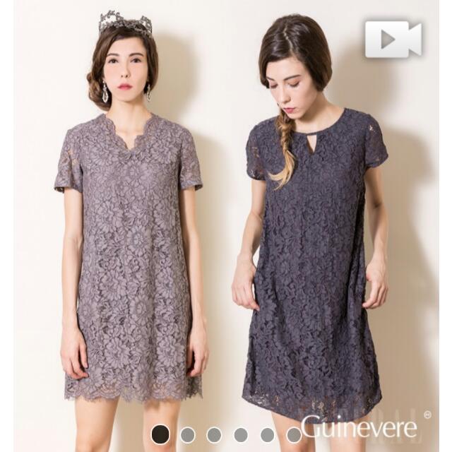 [降價]蠶絲骨線蕾絲洋裝