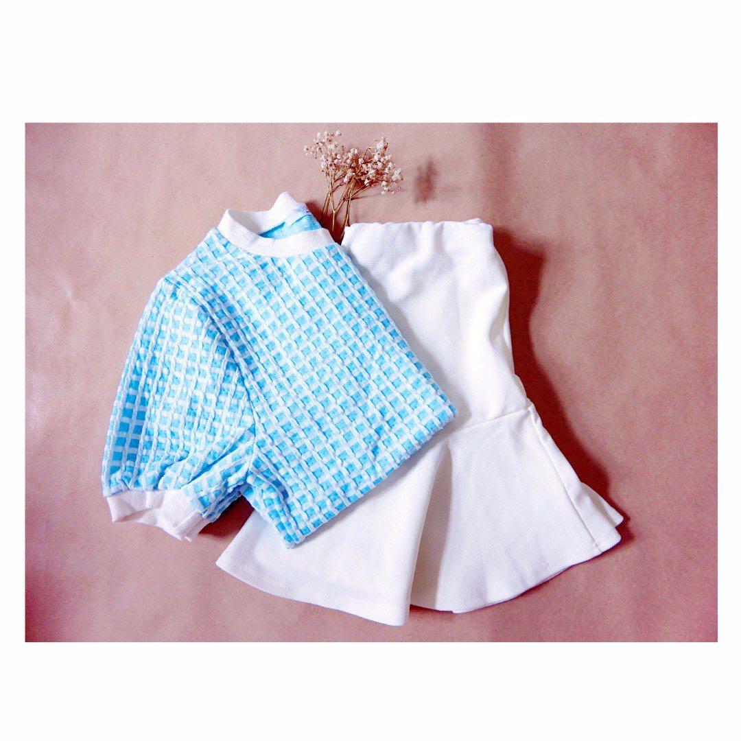 白色魚尾短裙