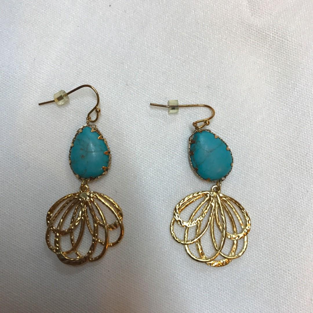 綠松石造型民俗風耳環