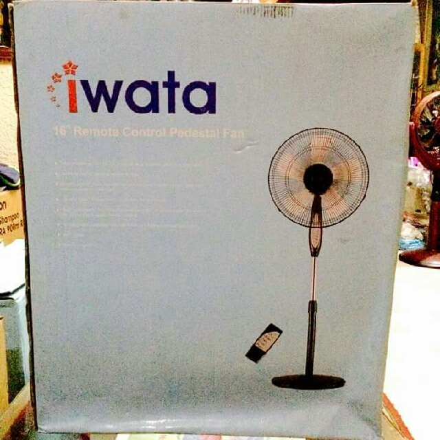 """( Brand new) IWATA 16"""" Remote Control Pedestal  Fan with Timer"""