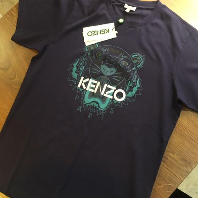 正品 Kenzo  深藍基本款短t. S號