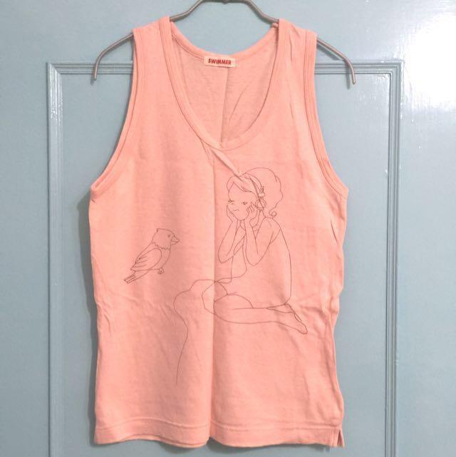 《只想清衣櫃》日本 SWIMMER 聽音樂女孩背心 #女裝九九出清