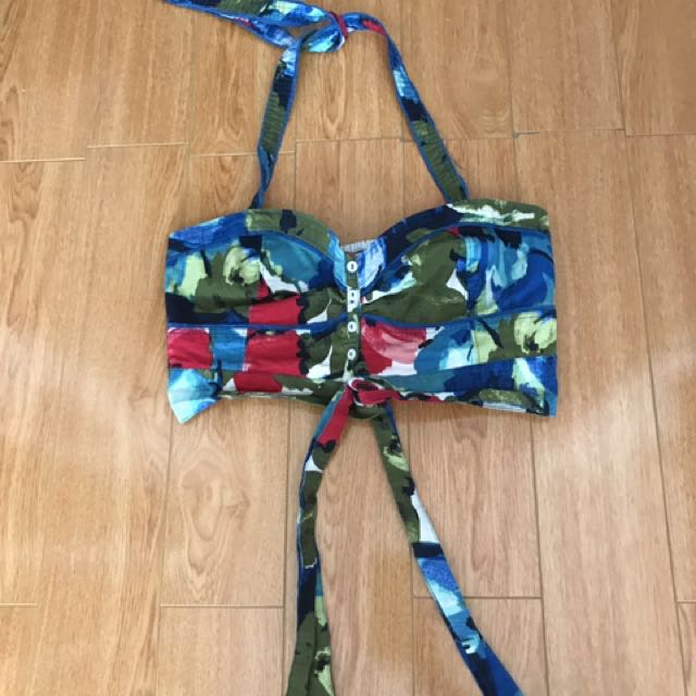 Abercrombie & Fitch Floral Halter Crop Top