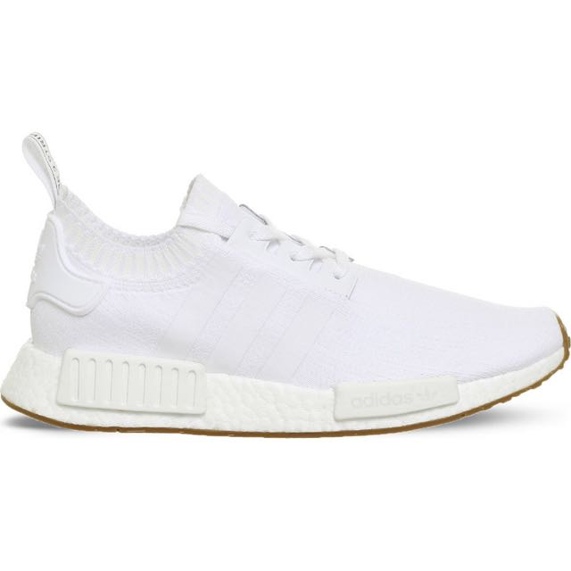 33deca33f3cb5 ADIDAS NMD R1 Primeknit Trainers In White White Gum