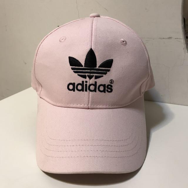 《ADIDAS ORIGINAL 粉色老帽》  9成新 售出前送洗乙次 附內圖及側標  售價$580