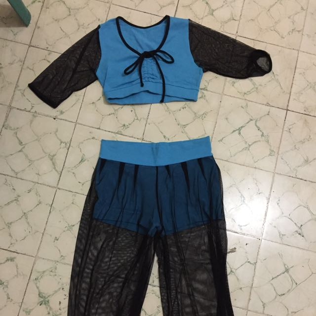 Aerobik set blue
