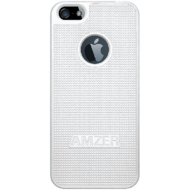 Amzer AMZ94826 Hard Shell Snap on Slim Fit Case Cover for Apple iPhone 5, iPhone 5S, iPhone SE (Fits All Carriers) - White