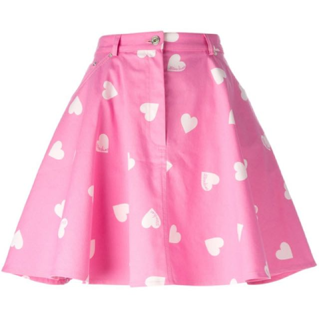Authentic MOSCHINO Heart Print Skirt