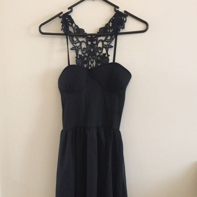 Black dress with lace back