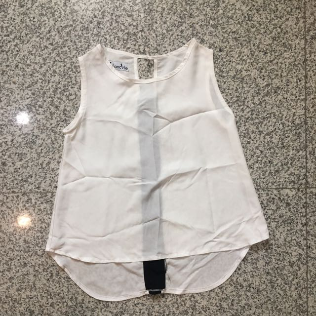Black panel white top