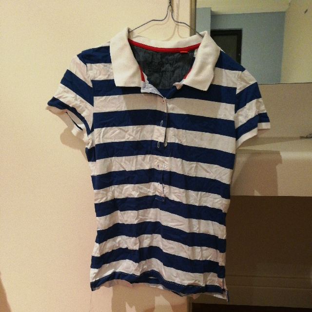 Blue white stripe shirt from ESPRIT size small