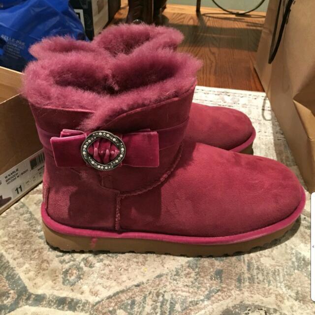 BNIB Coach Size 11 Fuschia Boots Womens