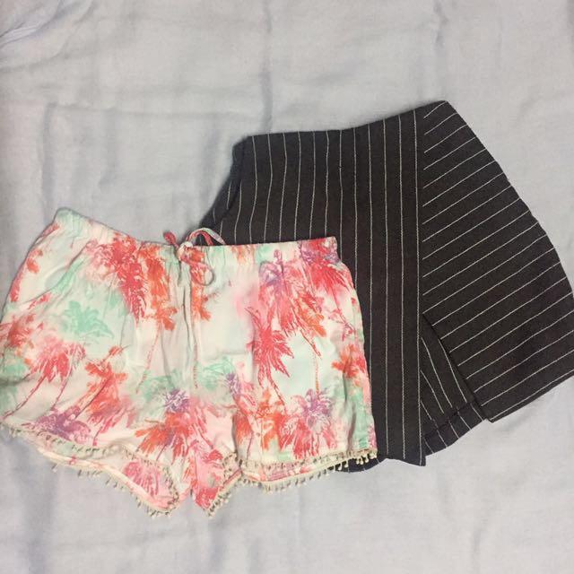 Both Shorts for 150 pesos