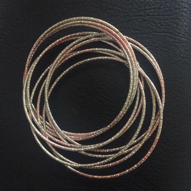 Bracelet gold and pink