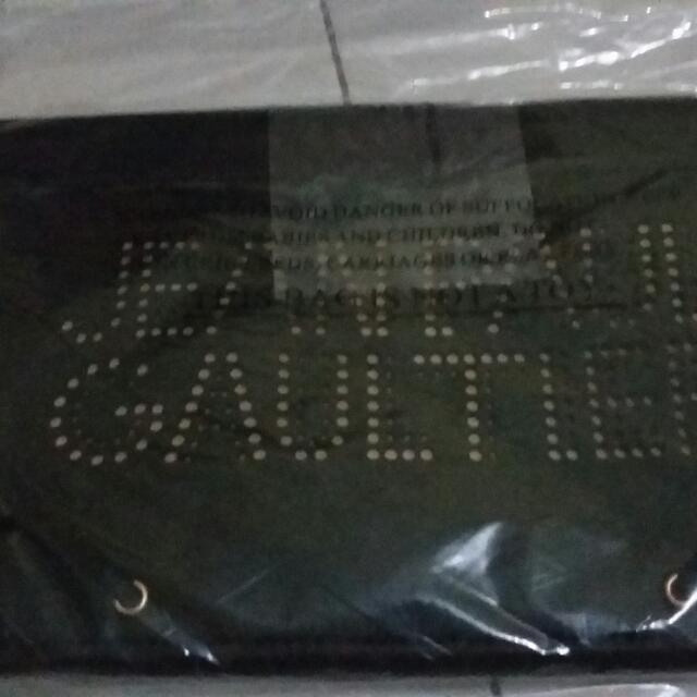 branded leather clutch bag