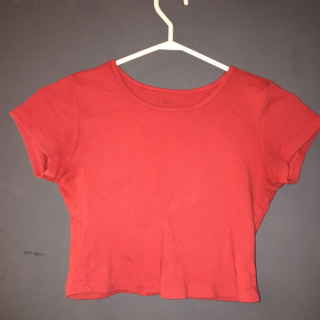 Brandy Melville red crop top