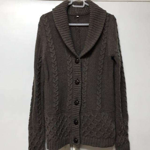 Brown Muji Pure Wool Sweater