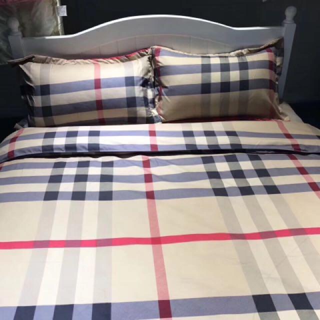 Burberry Inspired Bedding Sheet