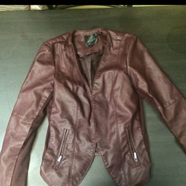 Burgundy dynamite jacket