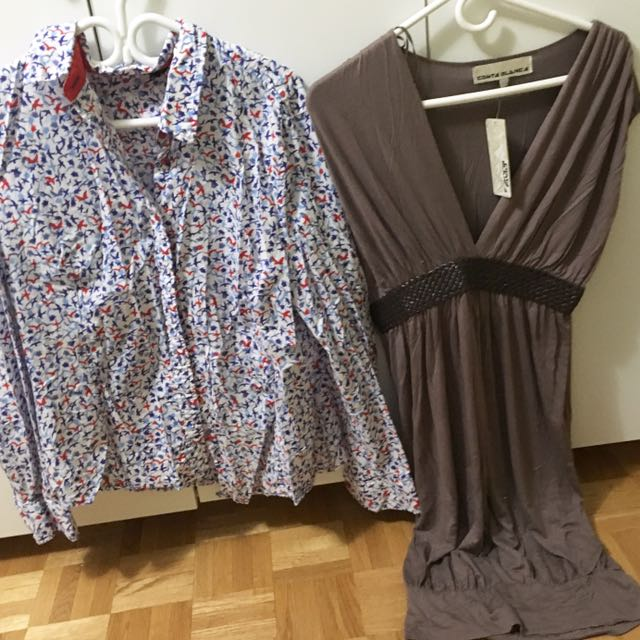 Buy 1 Take 1: Jessica Dress shirt (L) | Costa Blanca Dress Top (L)