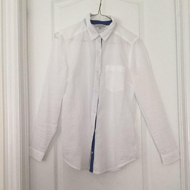 Calvin Klein | White Cotton Blouse