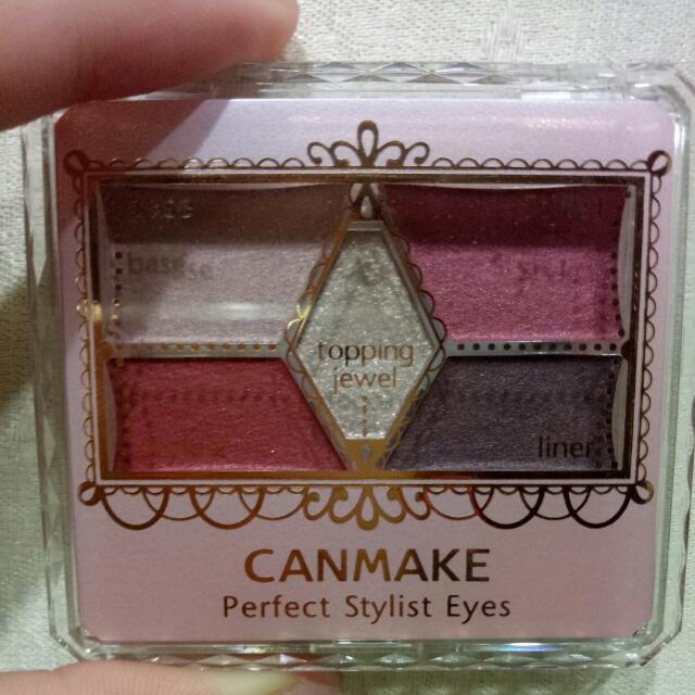 (近新)Canmake人氣熱銷五色酒紅系眼影盤14號