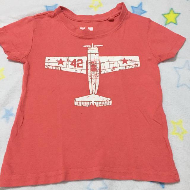 CottonON kids Airplane shirt in orange