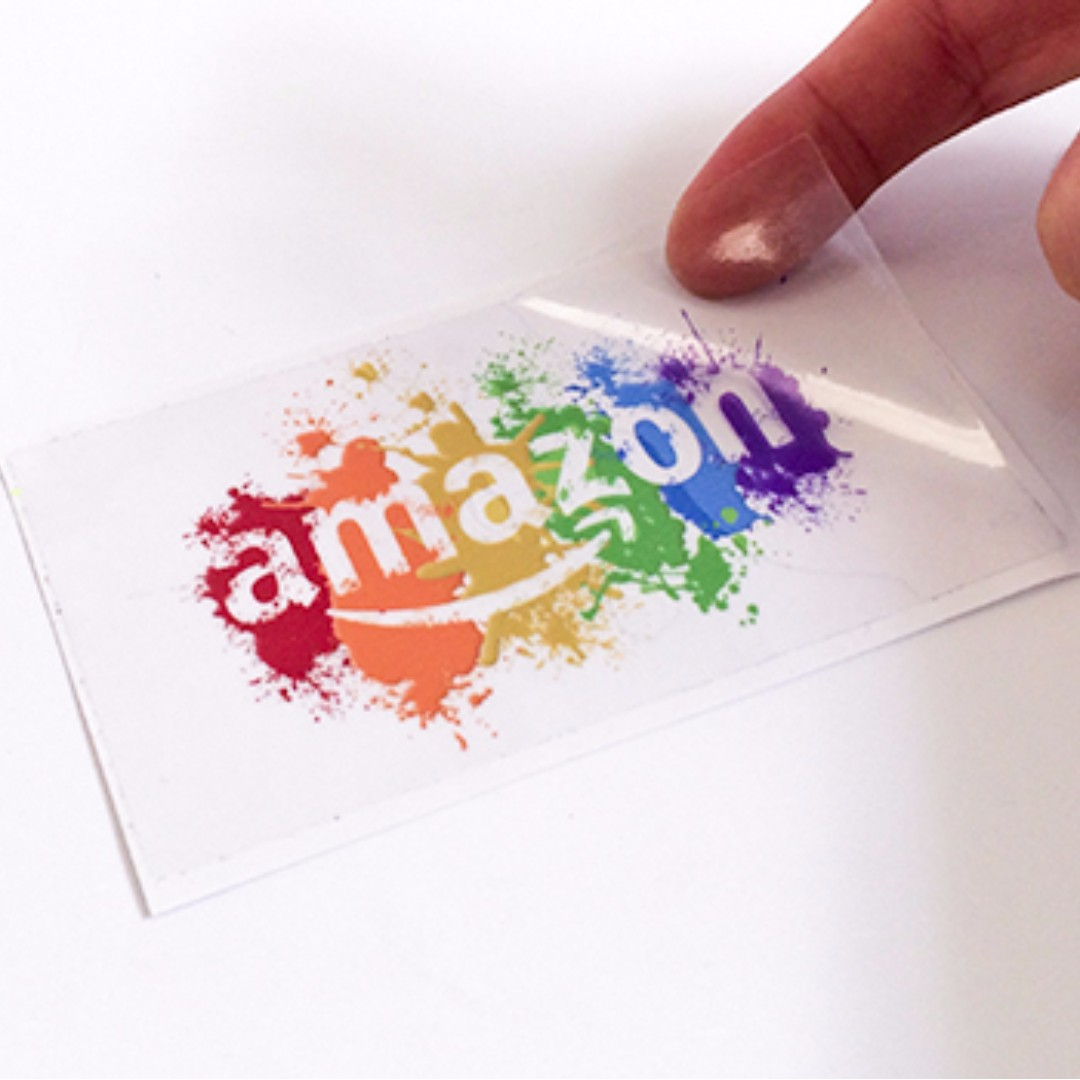 Customized name card size transparent stickers
