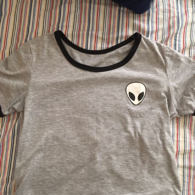 Cute Alien Crop Top