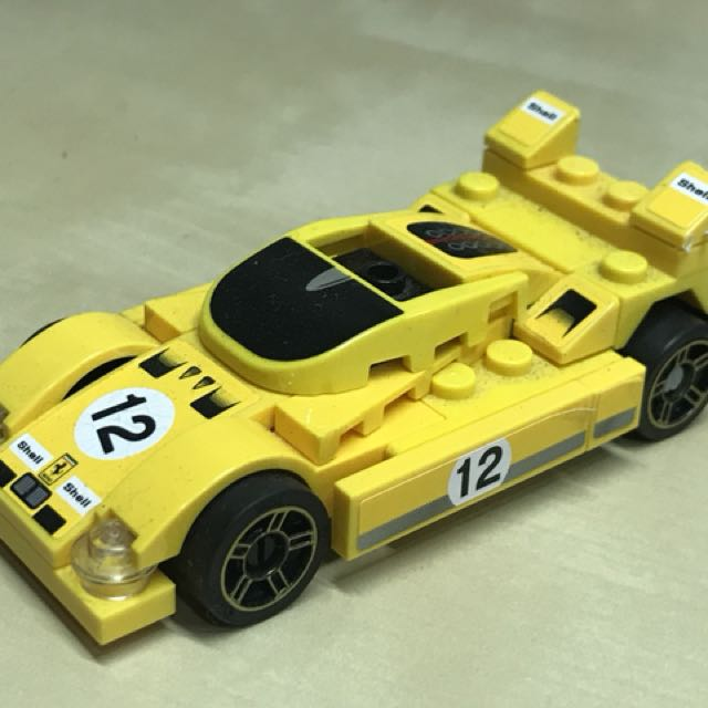 Displayed - Lego Shell V Power toy cars
