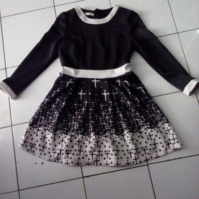 Dress Bahan Wedges (Tebal)