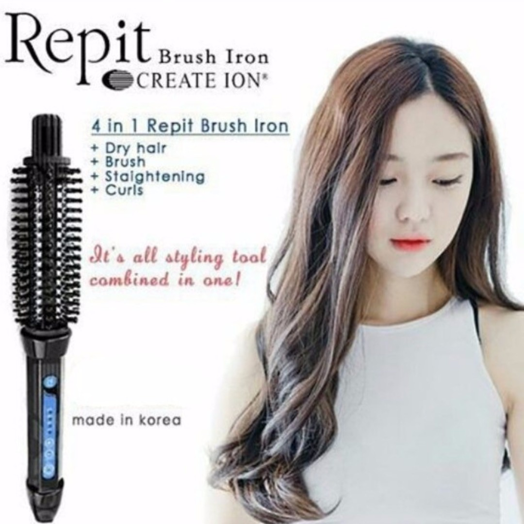 Excellent Condition Repit Hair Curler Brush Iron 22mm Korea Health Beauty Hair Care On Carousell