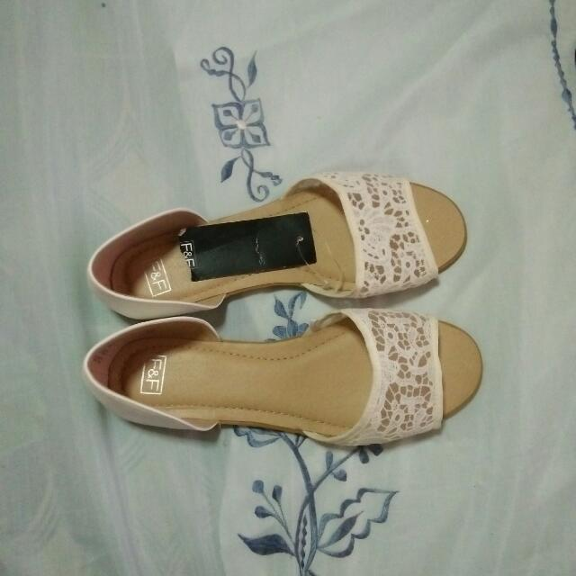 F&F White Flat Shoes