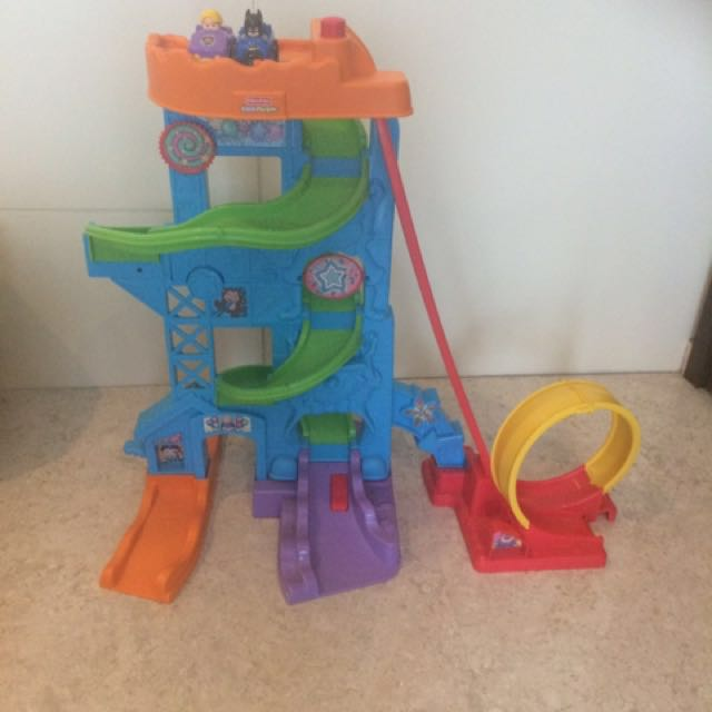 Fisher Price Little People Car Track And Two Cars Babies Kids Toys Walkers On Carousell
