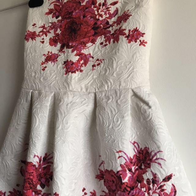 Floral printed tube dress