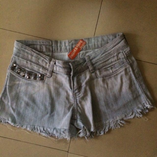 Folded & Hung maong shorts