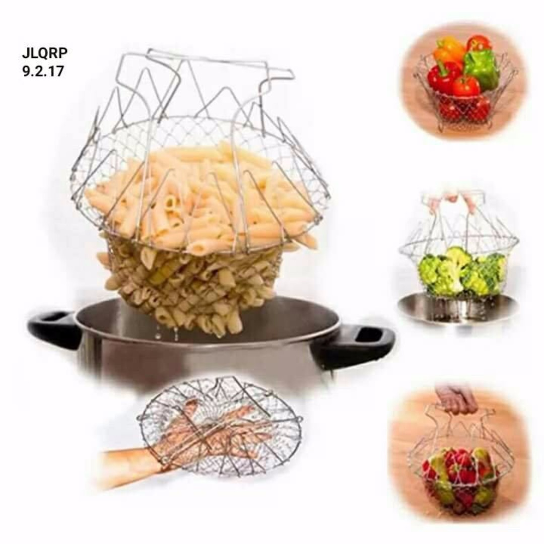 Food Frying Basket or Veggie Steam Strainer