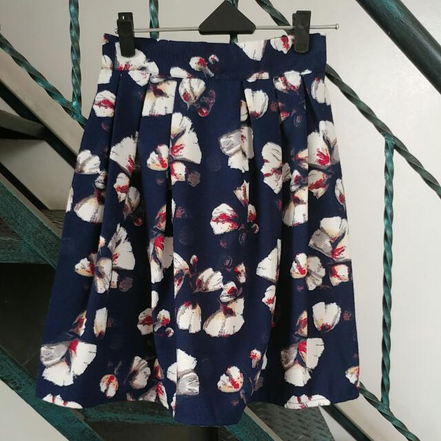 FREE Shipping A Line Floral Skirt