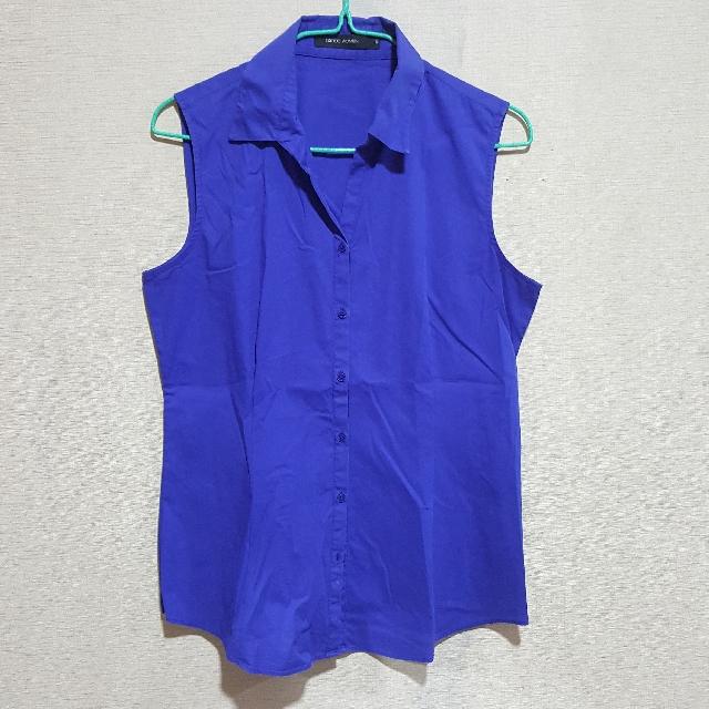 G2000 Women Blue Sleeveless Top