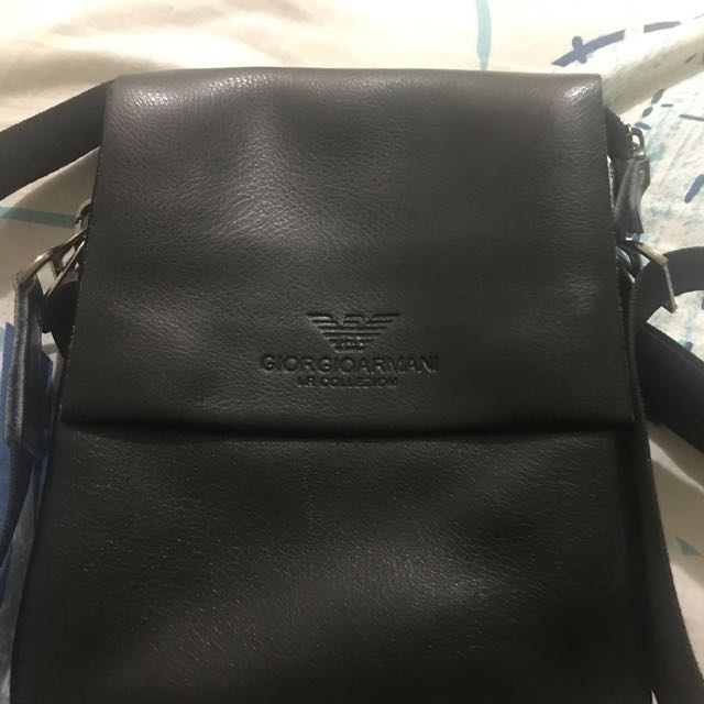 052308ce1bcc Genuine New Giorgio Armani Lr Colleziom Sling Bag Men S Fashion. Gallery  Lyst Giorgio Armani Handbag Trunk Bag Patent Leather 31x25x16 Cm