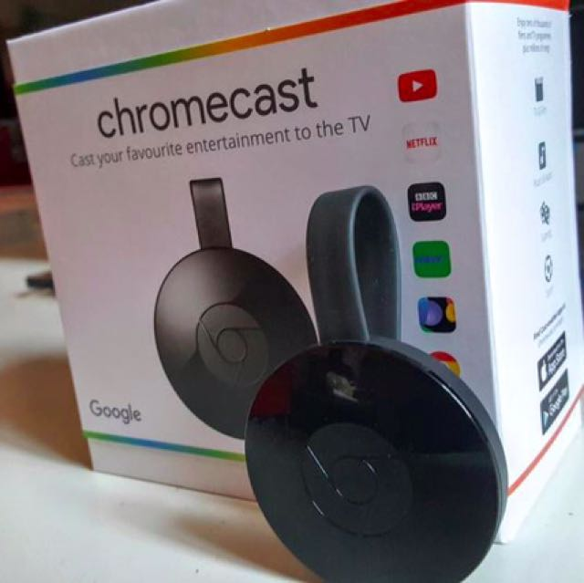 Google Chromecast HDMI 媒體串流播放器 黑
