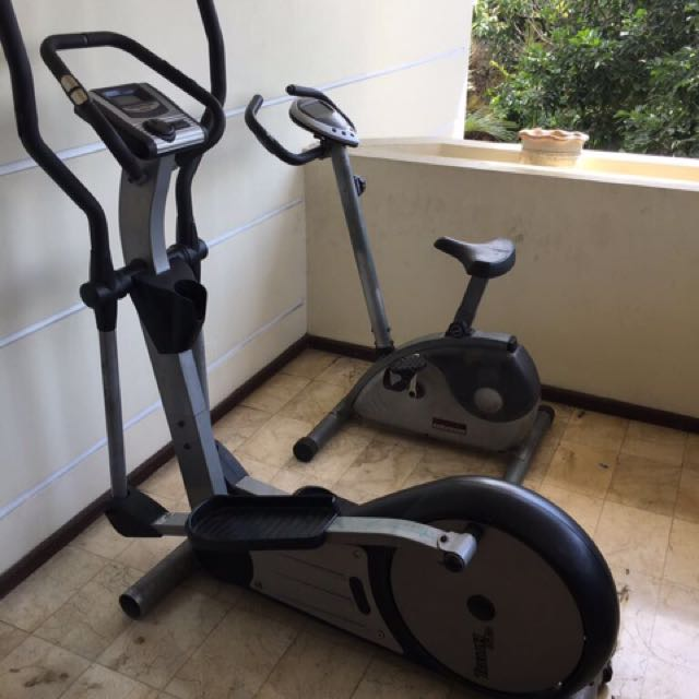 Gym equipment peralatan olahraga elliptical and exercise bike bicycle soul cycle soulcycle