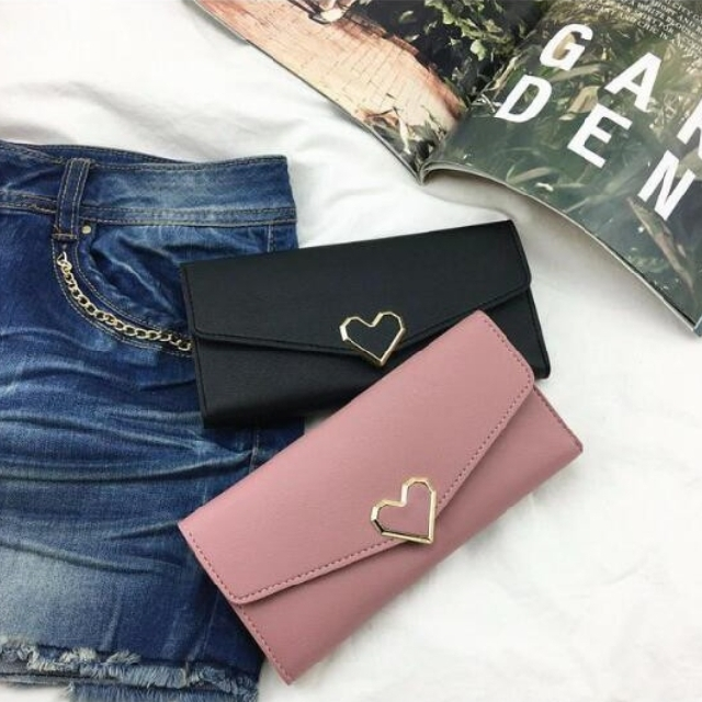 Heart Long Wallet
