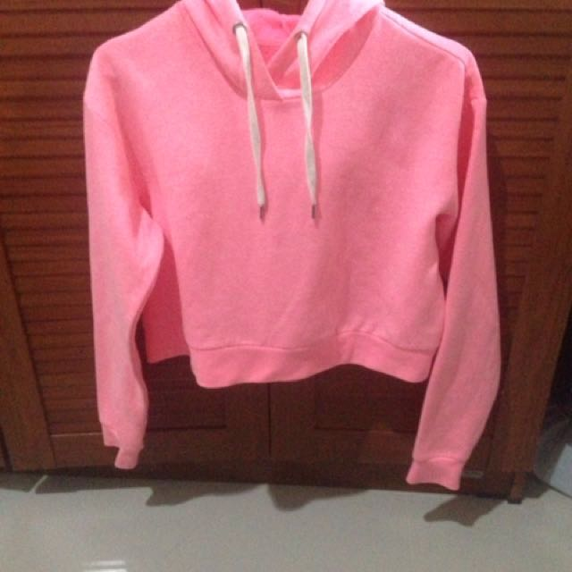 H&M Cropped Hooded Top
