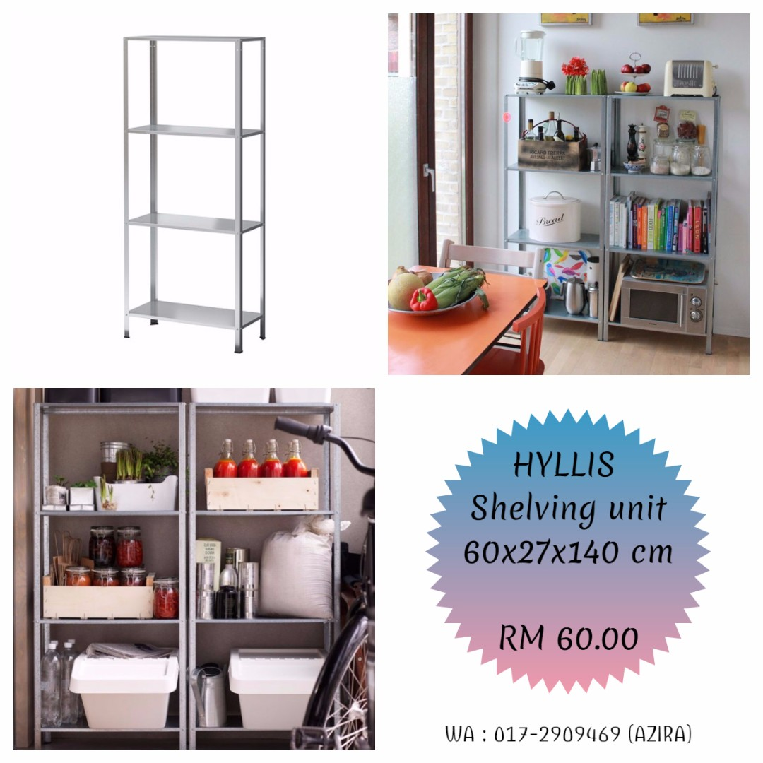 IKEA - HYLLIS Shelving unit, in/outdoor galvanised