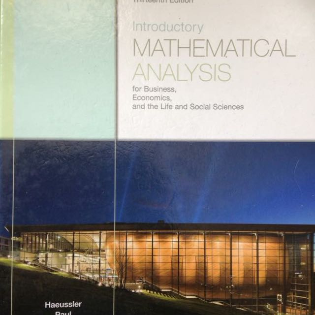 Introductory mathematical analysis for business, economics and social sciences