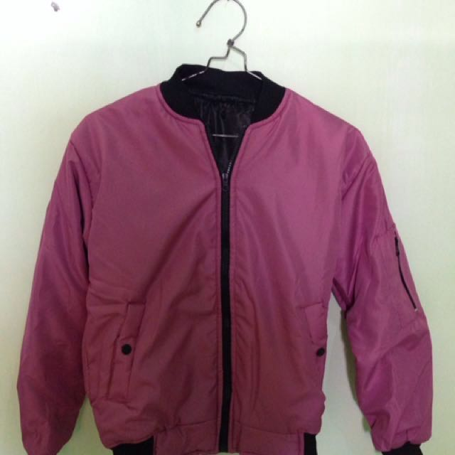 Jaket Bomber Dusty Pink