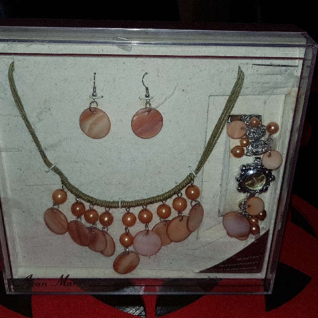 Jean Marc Necless Earring And Watch Set