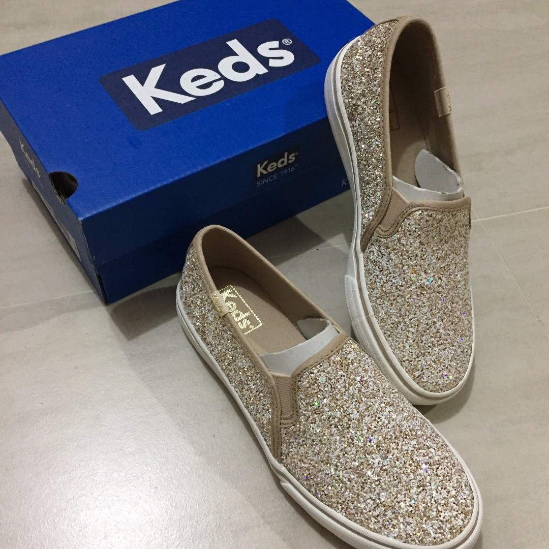 5c25fd6281c8 KEDS Double Decker Glitter Slip On (Women s)